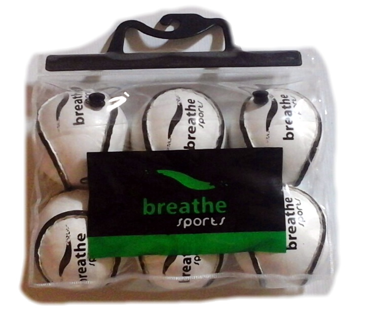 Breathe Sports Sliothar (White) - Size:4 Multipack