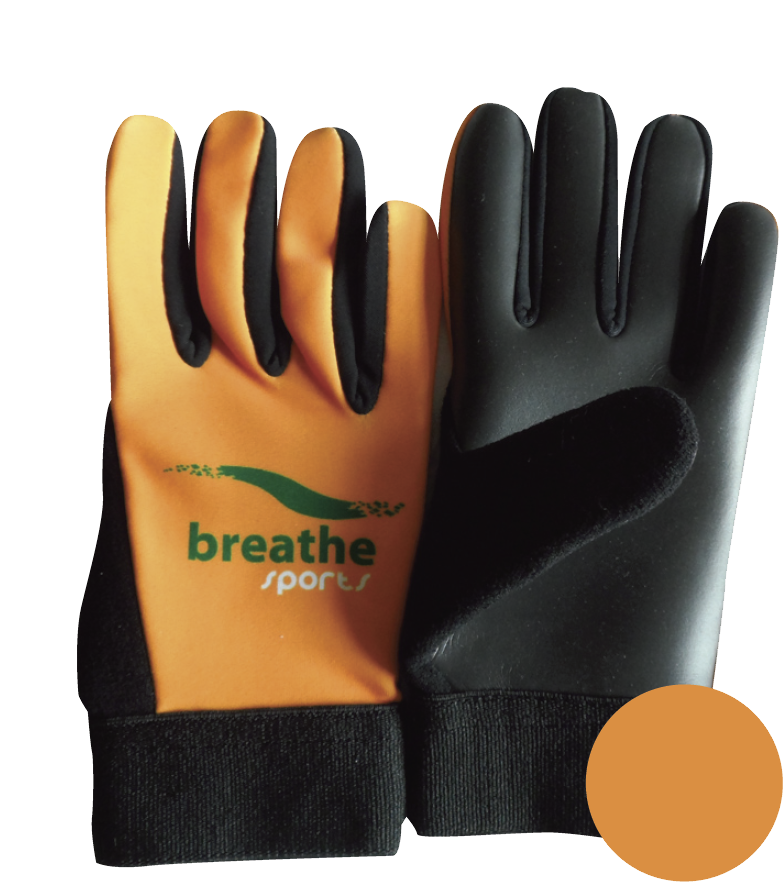Adult Gloves - (Orange/Black)