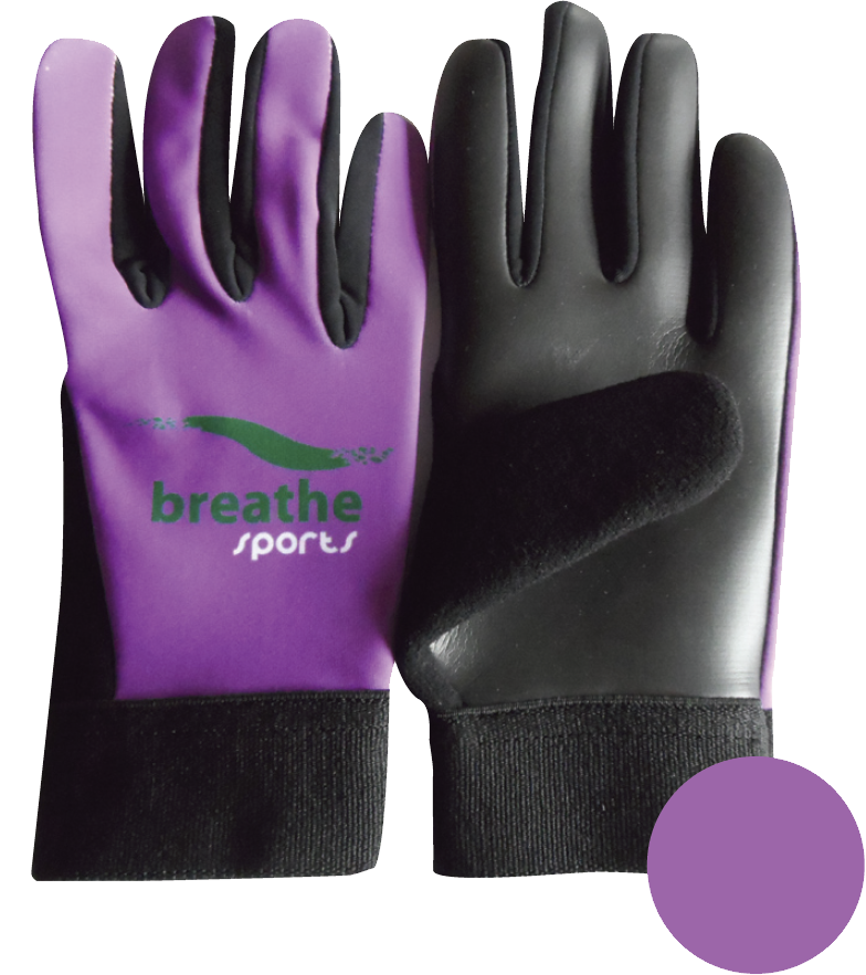 Adult Gloves - (Purple/Black)